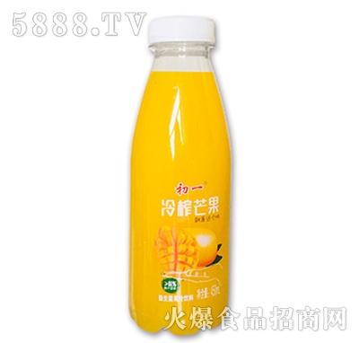 初一冷榨芒果益生菌果汁饮料450ml