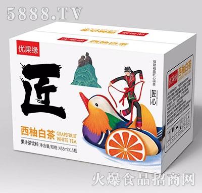优果缘西柚白茶果汁茶458mlx15
