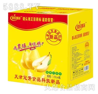 昊旺部落梨果汁饮料1.25LX6