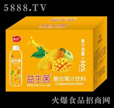 甄瑶芒果益生菌复合果汁饮料500ml×15瓶
