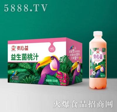 有心益益生菌发酵桃汁1.25LX8