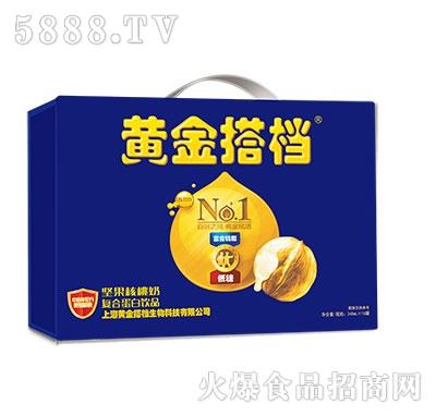 黄金搭档坚果核桃奶罐装16罐礼盒