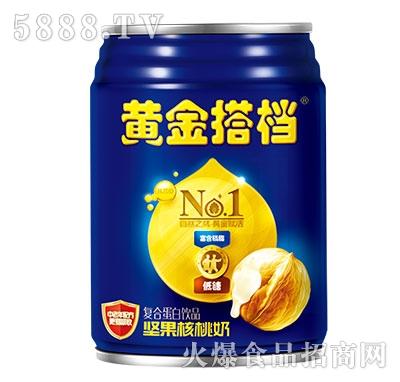 黄金搭档坚果核桃奶罐装