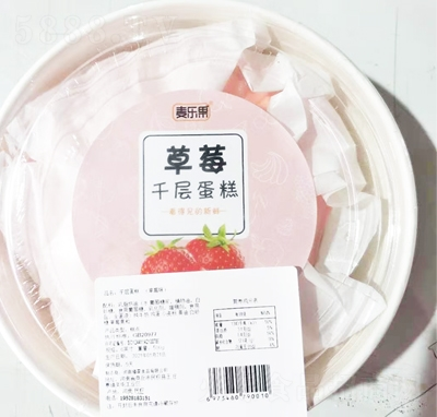 麦乐果千层蛋糕草莓口味