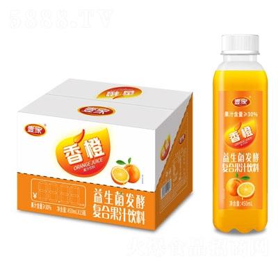 壹家益生菌发酵香橙果汁饮料450mlX15
