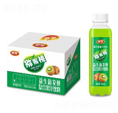 壹家益生菌发酵猕猴桃果汁饮料450mlX15