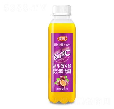 壹家益生菌发酵百香果果汁饮料450ml