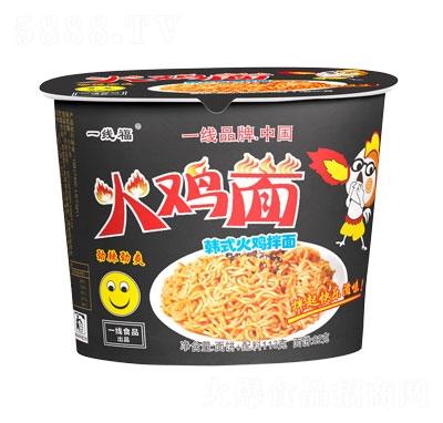 一线福火鸡面韩式拌面小桶装