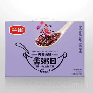 兰雀天天向膳黑米紫薯粥320g×10罐