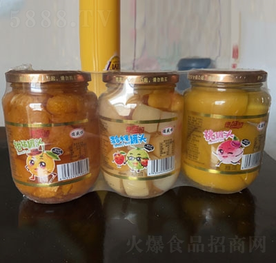 德盛恒水果罐头系列