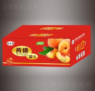 德盛恒黄桃罐头12瓶礼盒装