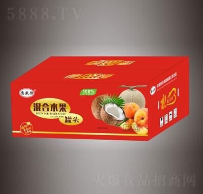 德盛恒混合水果罐头12瓶礼盒装