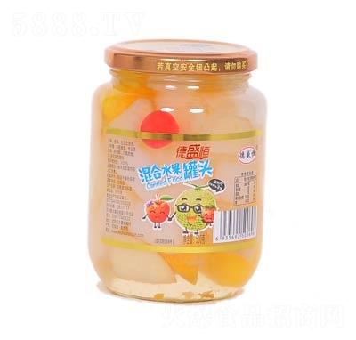 德盛恒混合水果罐头罐装500克