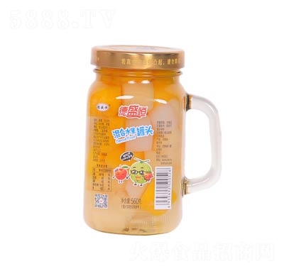 德盛恒混合水果罐头罐装560克