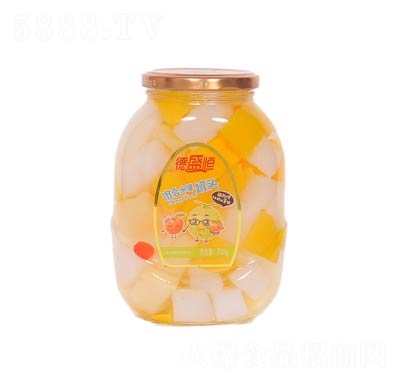 德盛恒混合水果罐头罐装700克