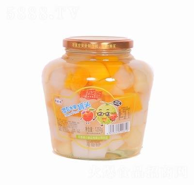 德盛恒混合水果罐头罐装1250克