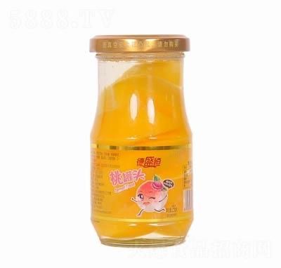 德盛恒桃罐头罐装256克