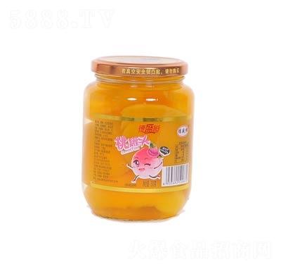 德盛恒桃罐头罐装500克