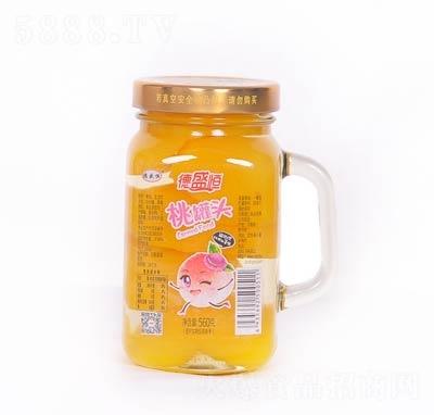 德盛恒桃罐头罐装560克