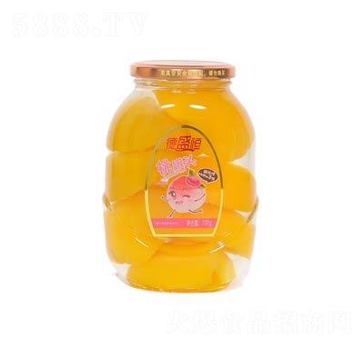 德盛恒桃罐头罐装700克