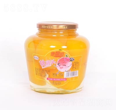 德盛恒桃罐头罐装1250克