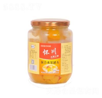 怀川混合水果罐头罐装750克