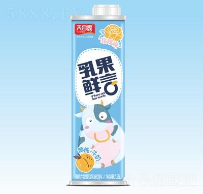 天合露乳果鲜言黄桃牛奶复合乳味饮料玫瑰味1.25L