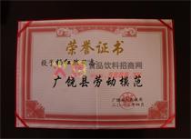 荣誉证书劳动模范