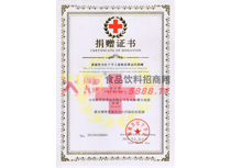雅安地震捐赠证书