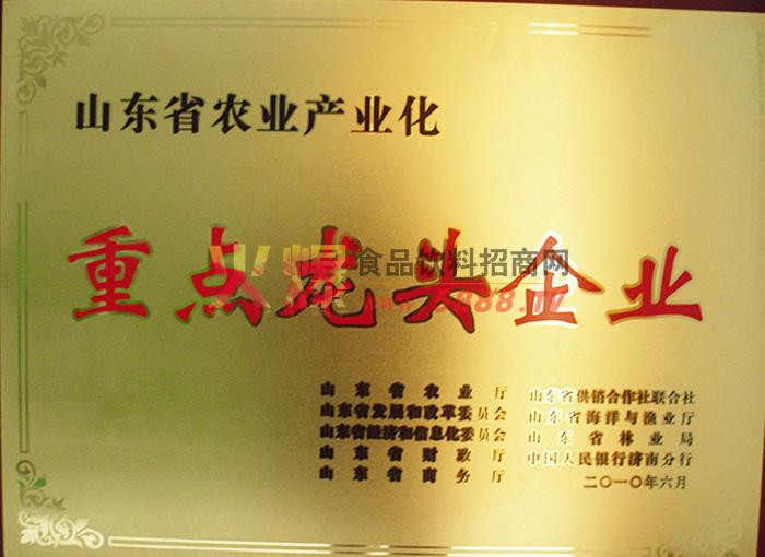 山东省农业产业化重点龙头企业