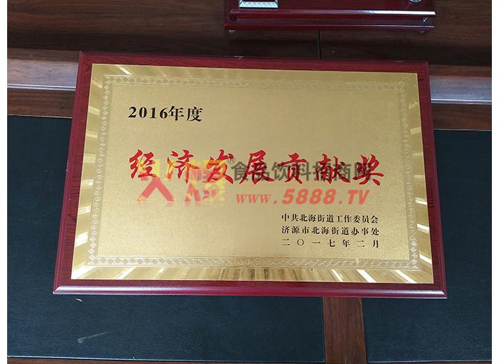 2016年度经济发展贡献奖