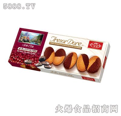 金莎红豆巧克力薄饼-110g