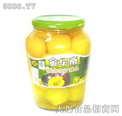 金华南850g糖水李子罐头