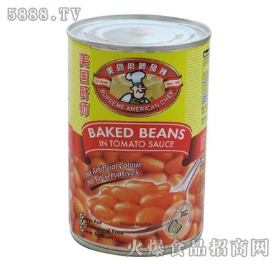 美国厨师鲜茄汁�h豆罐头