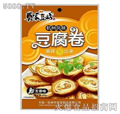 55g杭州特产豆腐卷五香味