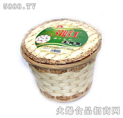 荆江牌农家土鸭蛋25枚竹篓装图片