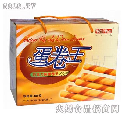 伟文巧克味蛋卷王480g|广州市伟文食品厂-火爆食品网.图片