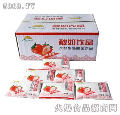 �l酵型乳酸菌�品草莓味酸奶
