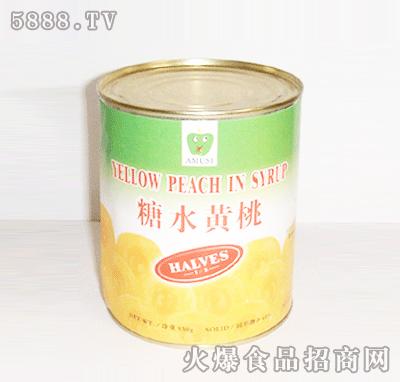 糖水黄桃(对开)罐头850g