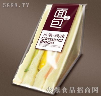 水果风味早餐面包(三角形)