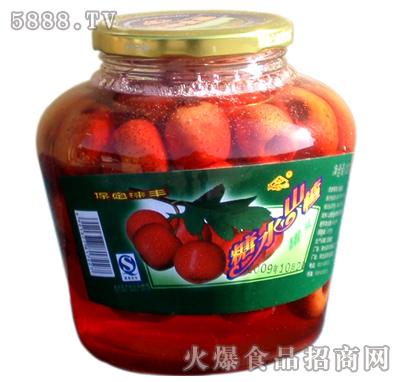 涞丰1200g山楂水果罐头