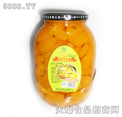 天富糖水蜜桔罐头710g
