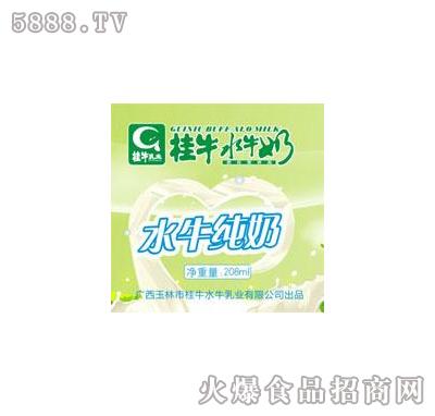 桂牛水牛纯奶208ml