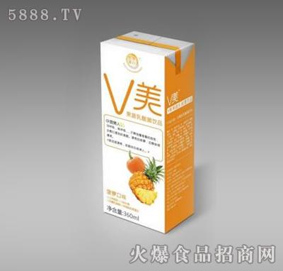 V美果蔬乳酸菌饮品菠萝口味