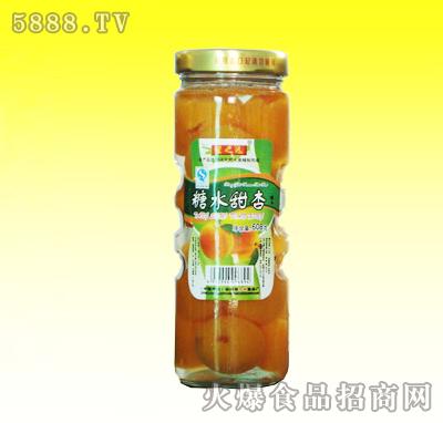 608g糖水甜杏罐头