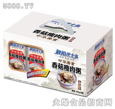 亲和优士多香菇瘦肉粥1x8礼盒