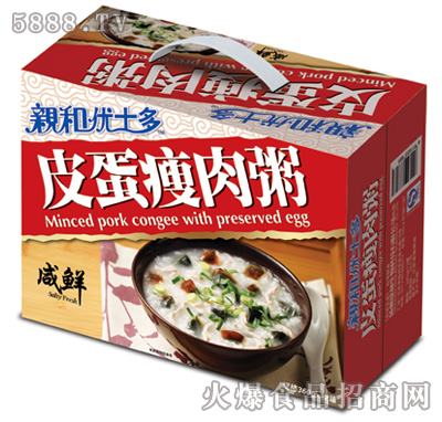 亲和优士多皮蛋瘦肉粥1x12罐装