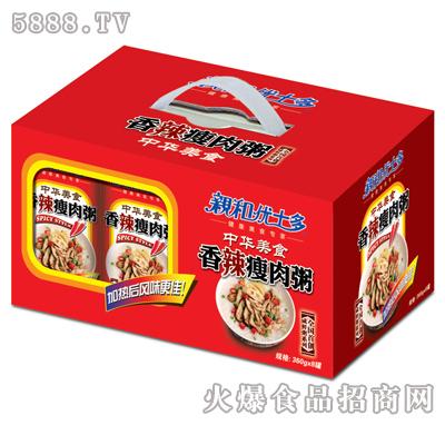 亲和优士多香辣瘦肉粥1x8礼盒