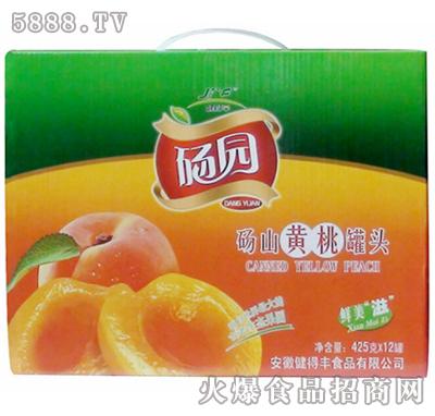 砀园糖水黄桃罐头425g×12罐礼盒