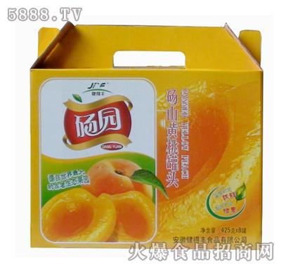 砀园糖水黄桃罐头425g×8罐箱